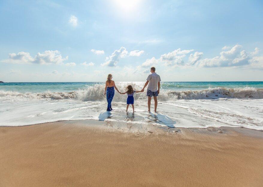 Come organizzare un viaggio di nozze con bambini?