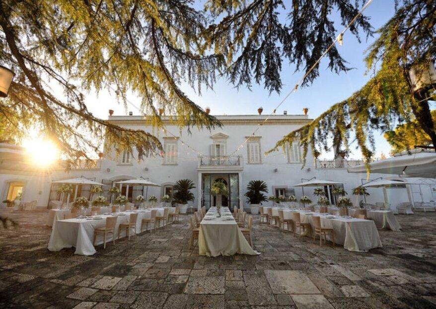 Villa Ciccorosella Ricevimenti, antica dimora storica pugliese che aprirà le porte alle vostre nozze da favola!
