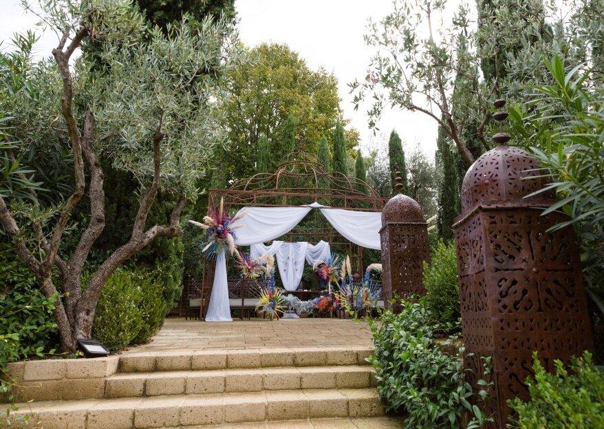 Un matrimonio dai toni mediterranei sul Lago di Garda, quello di Andrea ed Elena