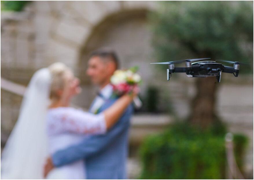 Las 4 razones para contratar un videógrafo con drone el día de tu boda
