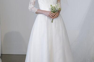 Medium length wedding dresses: The glamour of the 1950s
