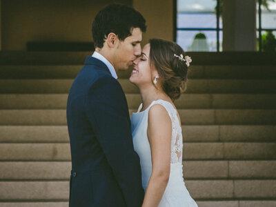 Una boda clásica y divertida: el gran día de Daniel y Elena