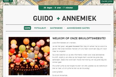 Creëer je eigen bruiloft website met Zankyou. Het is gratis!