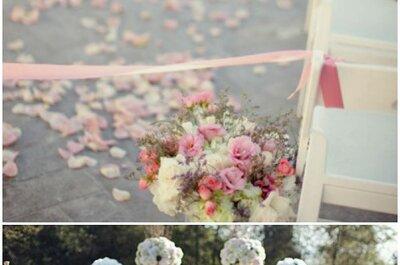 Ideas geniales para decorar tu boda con pétalos de flor: La tendencia más colorida de la temporada