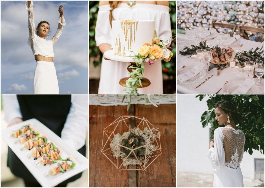 Tendencias para matrimonios 2019, ¡disfruta de una celebración a la última