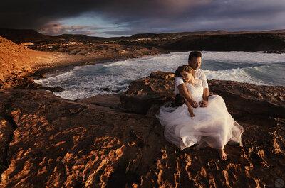 Malownicza sesja ślubna na Fuerteventura! Zainspiruj się tymi kadrami.