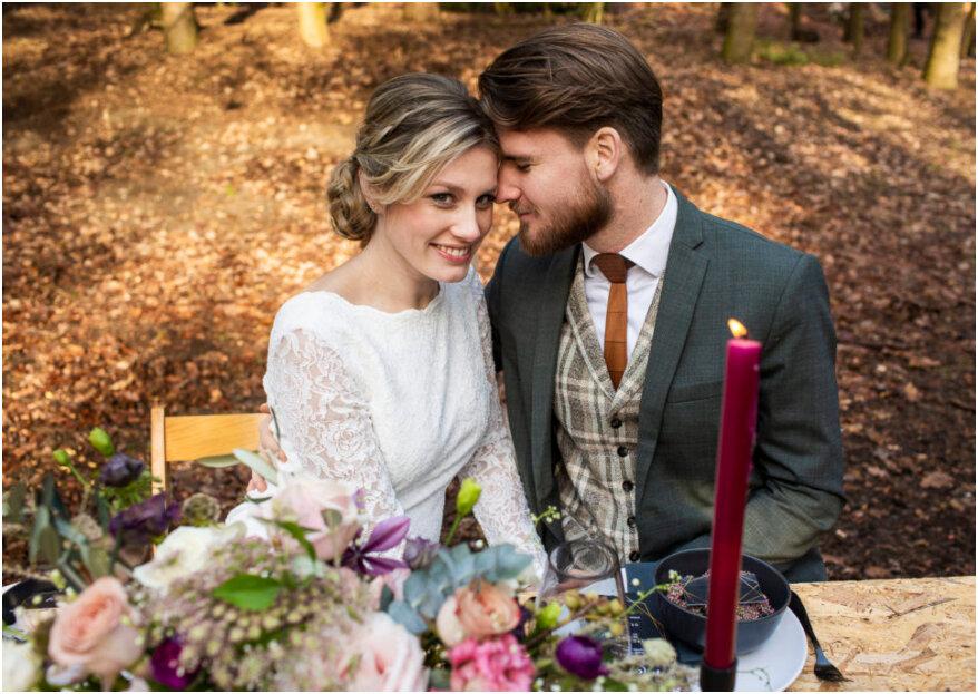 Beleef Buiten Bruiloft met deze Wintershoot!