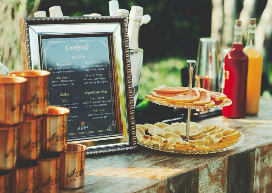 Quer uma festa com coquetelaria de luxo e experiências sensoriais para os noivos e seus convidados? Conheça a equipe da Jigger!