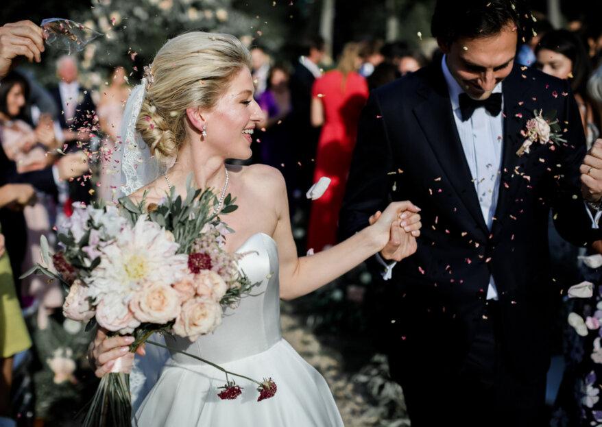 Kelsi et Andrej: un mariage international tout en élégance au cœur d'une abbaye