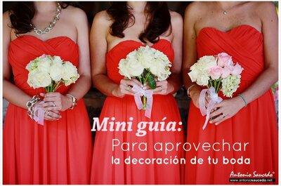 Mini guía: Las claves básicas para aprovechar la decoración el día de tu boda