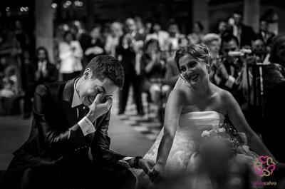 La emoción de los novios el día de la boda