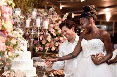 Casamento clássico de Rojane & German: noiva lindíssima e decoração em tons pastel super charmosa