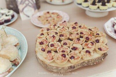Los 'finger food' en las bodas: ¡Una opción diferente para la comida de tu matrimonio!