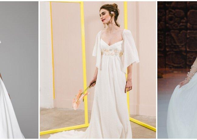Vestidos de novia corte princesa para bajitas
