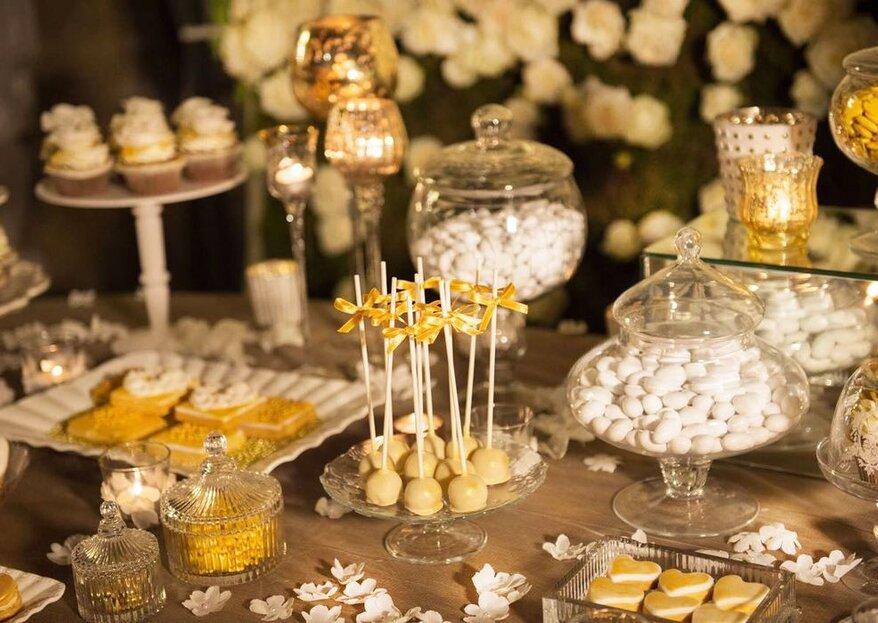Lo Sweet Table autunnale profuma di cioccolato con Crispo Confetti