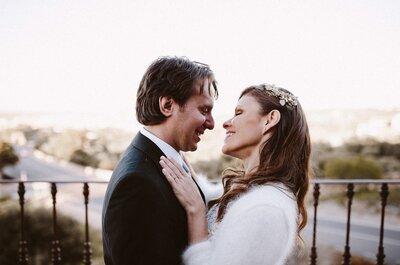 Un mes para conocernos y nunca más separarnos: la boda de Izabella y Raúl
