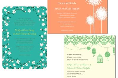 Invitaciones de boda coloridas