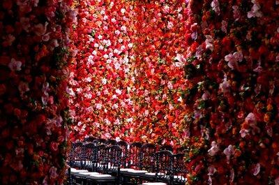 Decoración con flores naturales para la boda