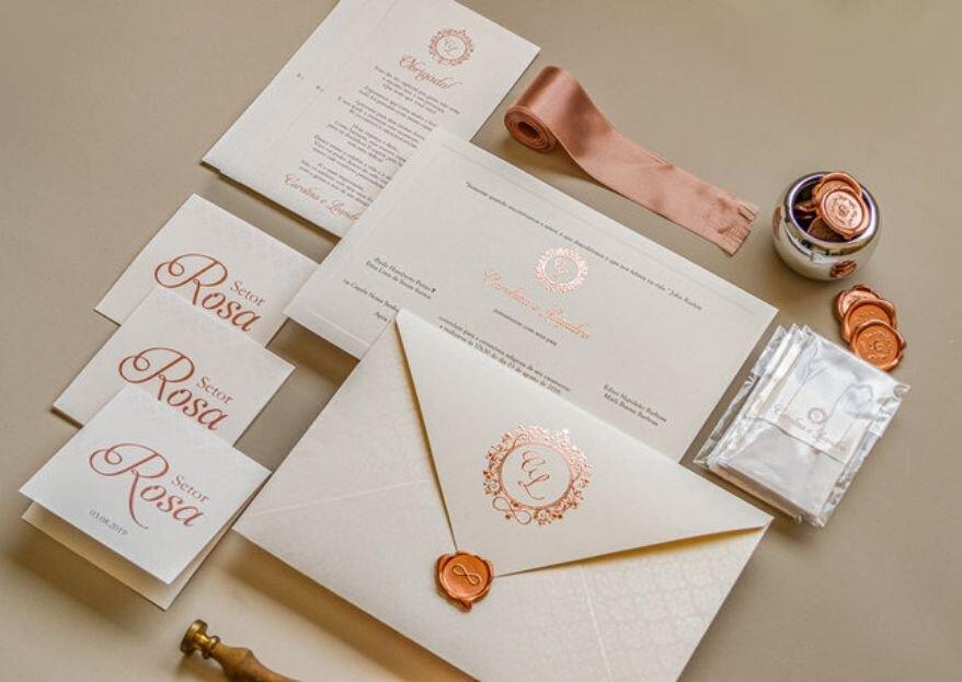 Aquele convite de casamento para impressionar: Conheça o trabalho da Papel e Estilo!