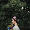 Novia con corona floral.