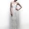 Vestido de novia 2013 con escote strapless en forma de corazón y falda con caída recta