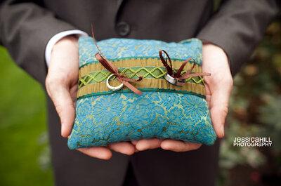 Oryginalne poduszki na obrączki ślubne - DIY