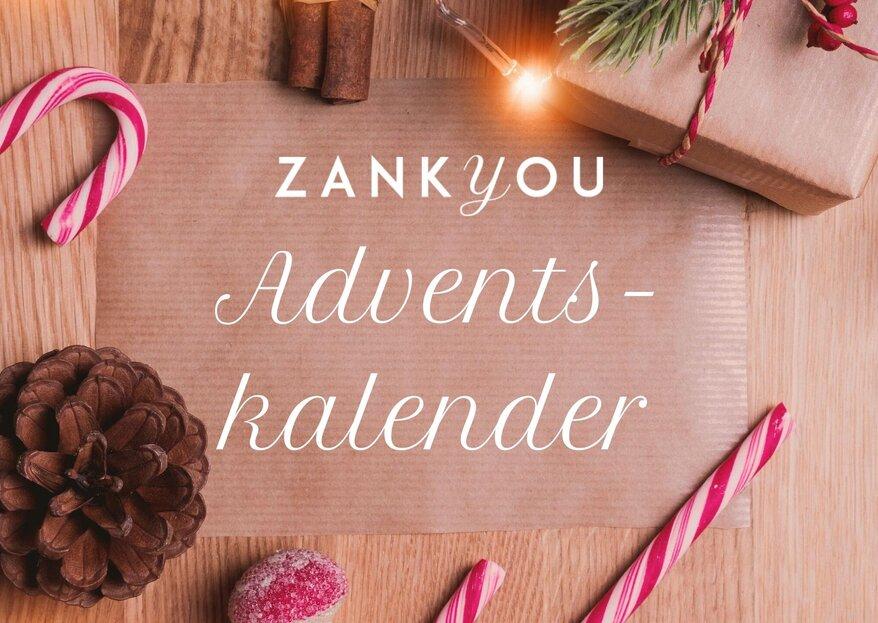 Der große Zankyou-Adventskalender - 24 vorweihnachtliche Hochzeitsüberraschungen warten auf Sie