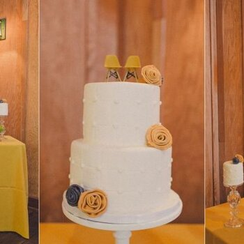 Hochzeitstorten mit Blumen geschmückt