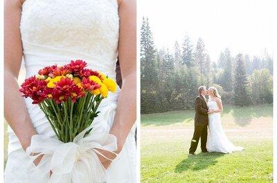 Bouquet con fiori rossi