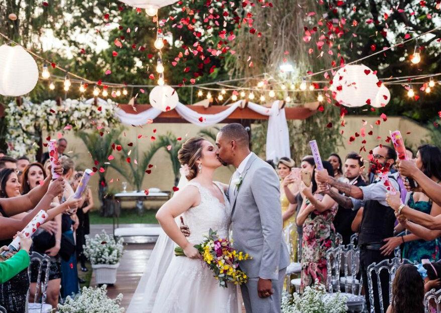 Recanto Pampulha: seu casamento em meio ao verde, coroado com o canto dos pássaros e organizado por uma equipe de experts