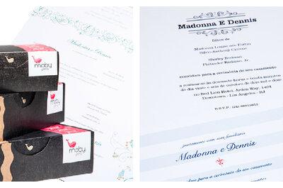 Seu convite de casamento personalizado e online na Moby Prints