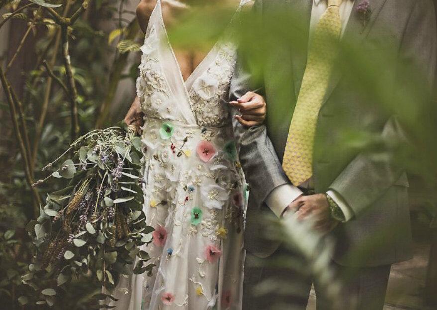 Marília Dias: para as noivas que sonham com um vestido romântico e com ares contemporâneos, capaz de revelar a sua personalidade