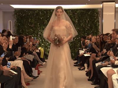 Carolina Herrera Spring 2016 Bridal Collection Catwalk