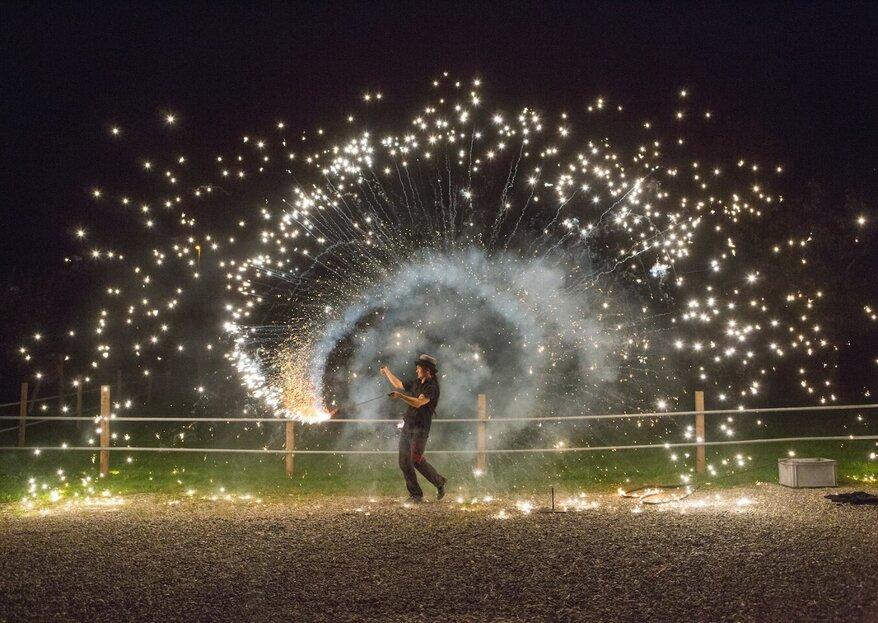 Ihre Feuershow zur Hochzeit: leidenschaftlich und romantisch