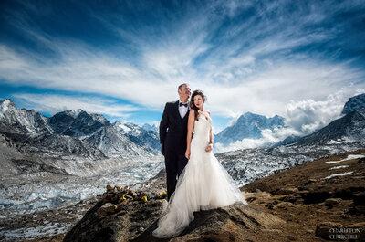 O Amor consegue tudo: casal casa-se no Monte Evereste após 3 semanas de uma difícil escalada