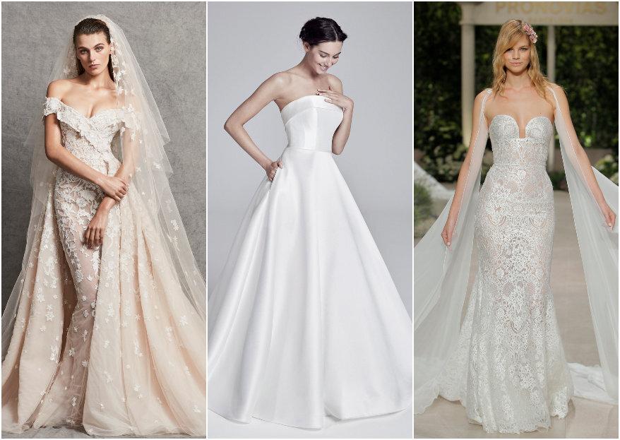Gli 8 tipi di bianco dell'abito da sposa: sai distinguerli?