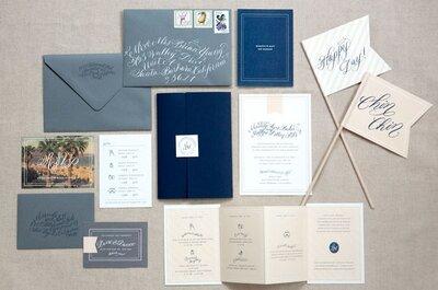 Ideas de la papelería que puedes usar para tu boda