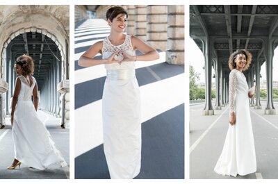 Les mariées Fox : pour une robe de mariée au style moderne masculin-féminin
