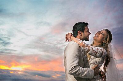 Destination Wedding de Nathalie & Ricardo em Búzios: rústico chic e ao pôr do sol!