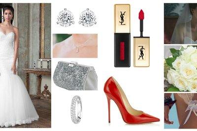 Look pour une mariée sexy : une robe sensuelle et ses 10 accessoires!