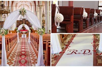 Pomysły na dekorację kościoła na ślub