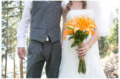 Buquês de noiva com as cores do Halloween