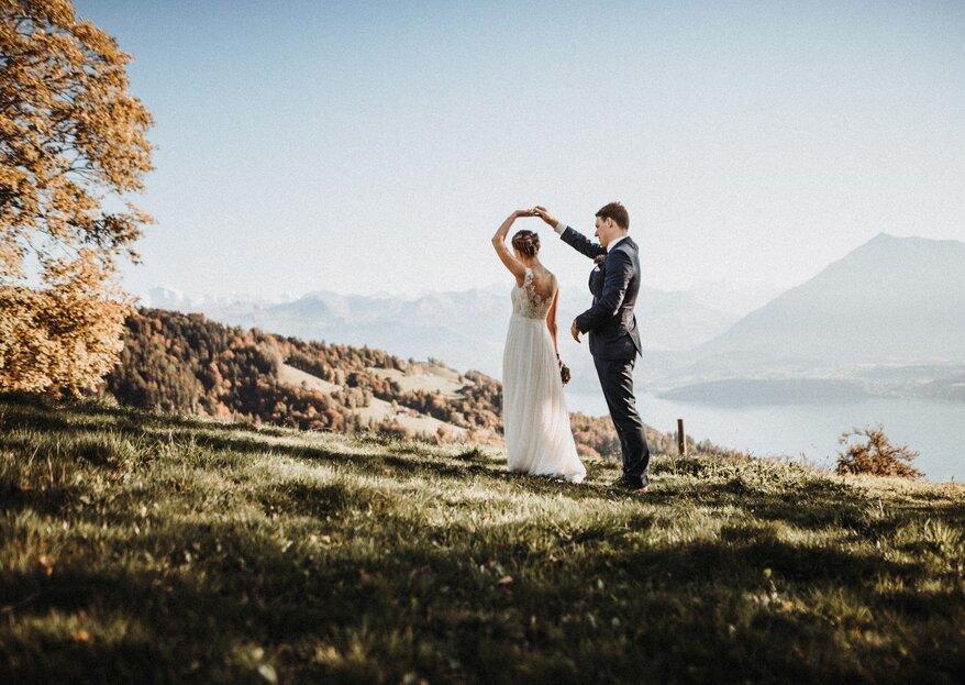 Die rustikale Berghochzeit von Anna und Michael