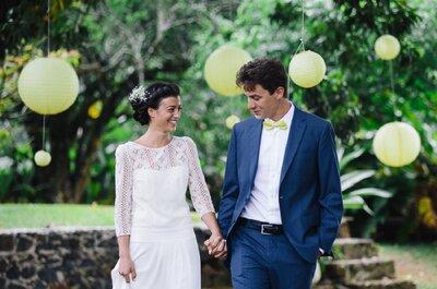 Paola & Louis : Un beau mariage en jaune et vert sur l'Ile de la Martinique