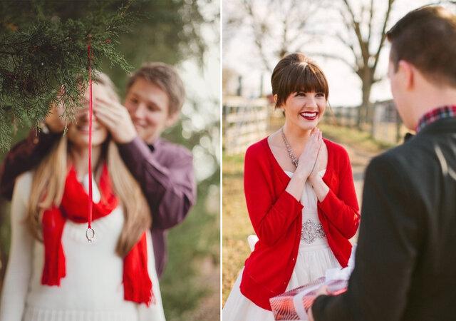 Pedido de casamento no Natal: do que é que está à espera?