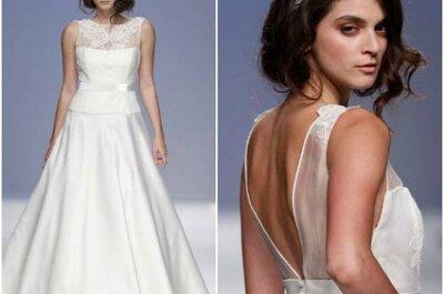 Brautkleider mit Rückenausschnitt – eine kleine und feine Auswahl aus den Kollektionen 2013