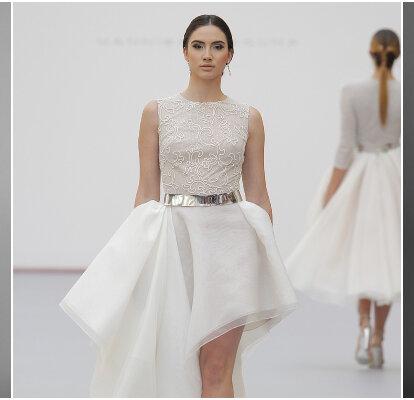 6c4561977ce9 Vestidos de novia cortos: diseños que te enamorarán. ¡Elige el tuyo!