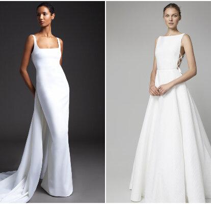 Compañero Fuera de plazo Embrión  100 vestidos de novia sencillos 2020: ¡elegantes, sobrios y románticos!