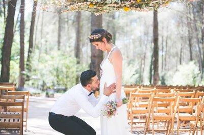 Novias premamá: cómo organizar tu boda cuando estás embarazada