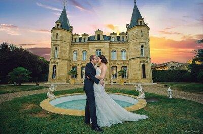 Les plus beaux châteaux en Gironde pour un mariage de conte de fée
